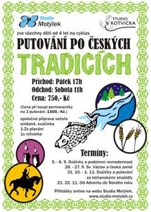 Putování po českých tradicích - leták