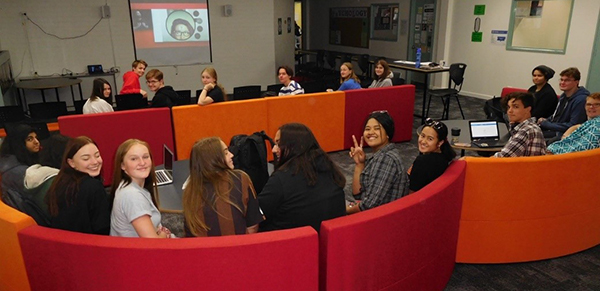 Students participate in the Generation Next Webcast
