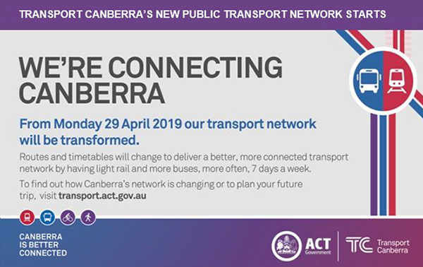 Transport Canberra's New Public Transport Network