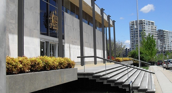 Picture of the steps of the ACT Law Courts