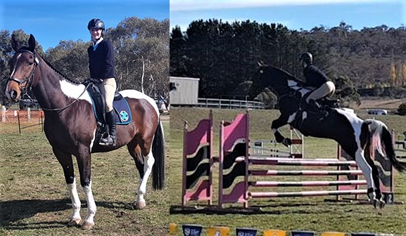 Chloe Richard represented Hawker College in the Snowy Mountains Interschools Equestrian Competition on her horse Apache
