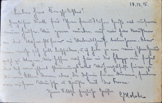 Writing the past: transcribing handwritten documents from World War One