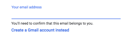 signing up with your own email