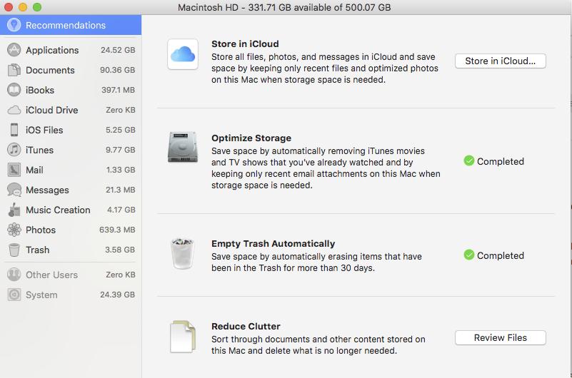 manage storage