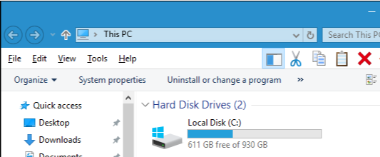 storage on Hard Disk