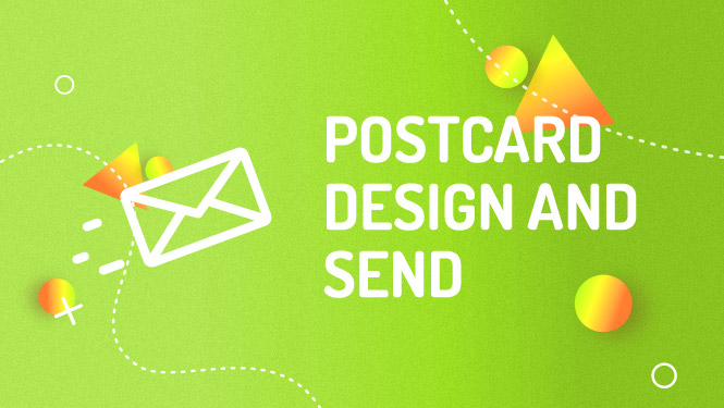 Mailchimp postcard design and send