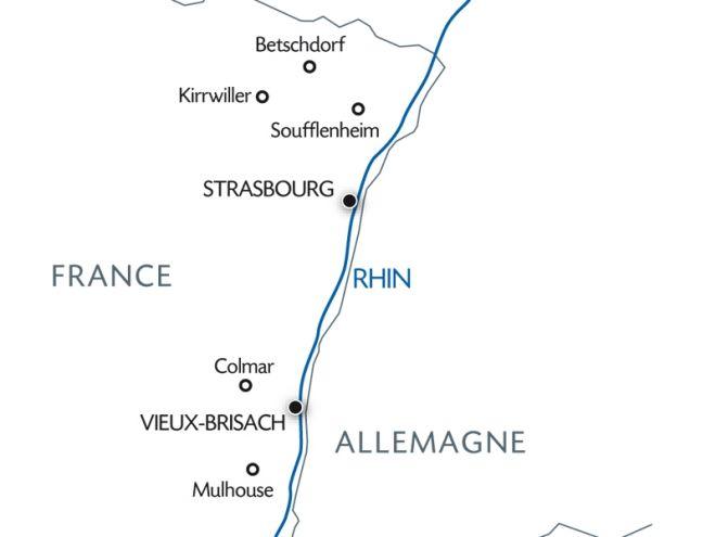 Parcours croisière sur le Rhin