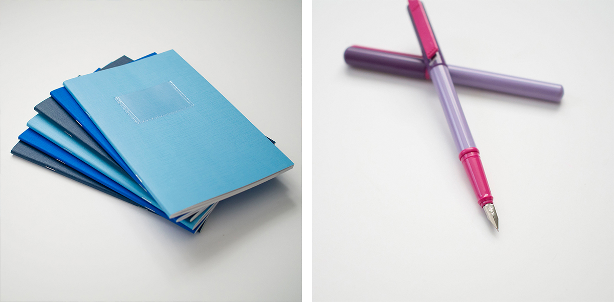 RAD AND HUNGRY: Blue and purple office supplies