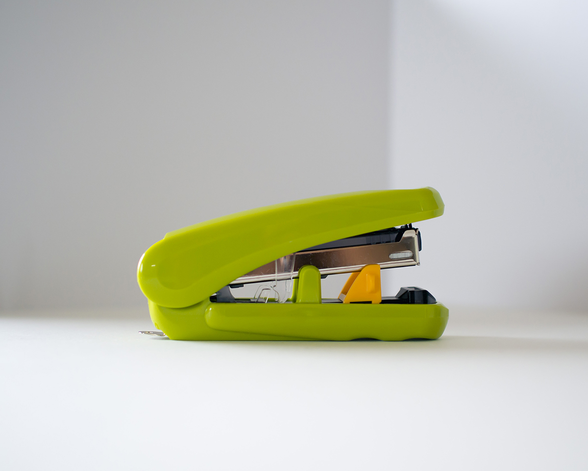 RAD AND HUNGRY: Green stapler