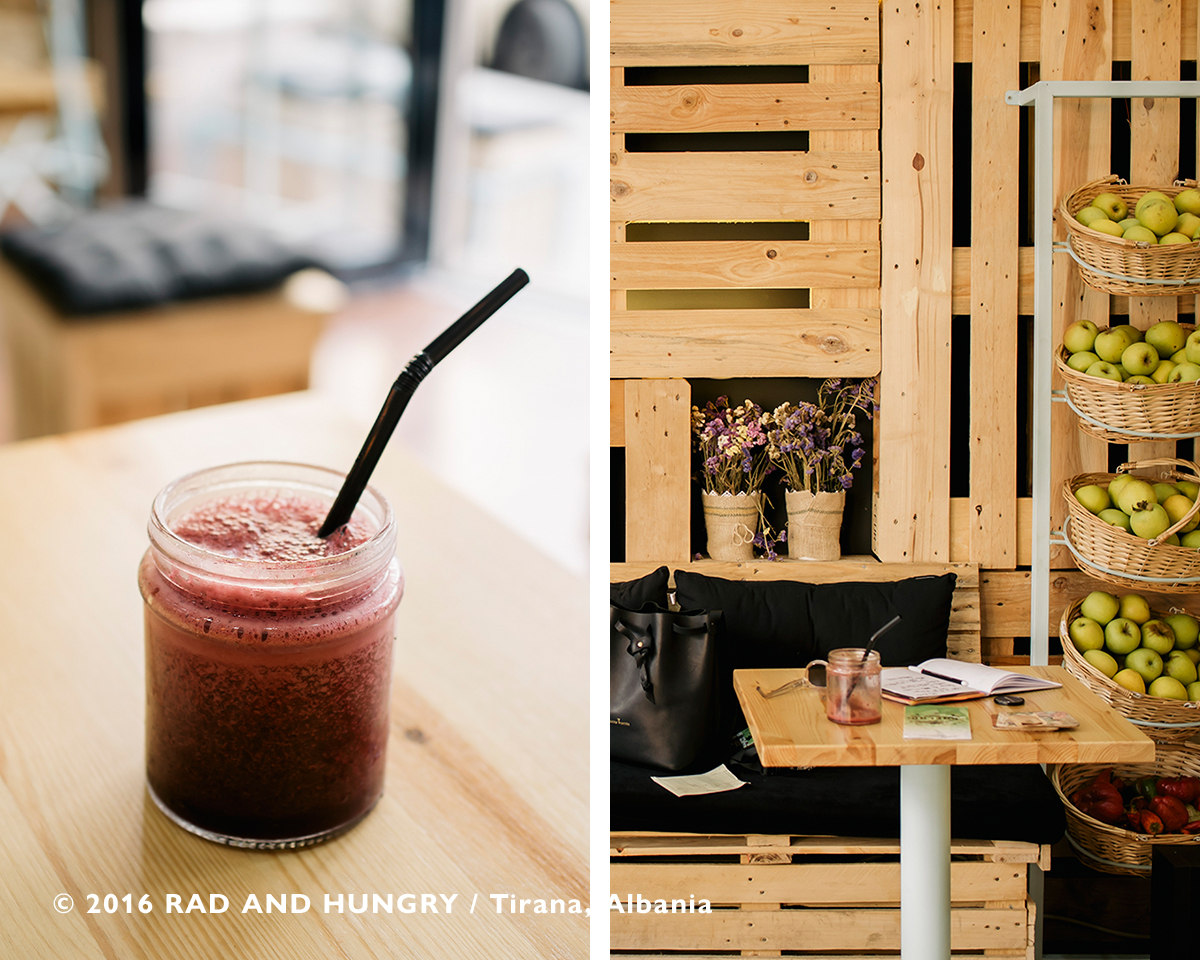 RAD AND HUNGRY: Coelho Juice Bar, Albania 2
