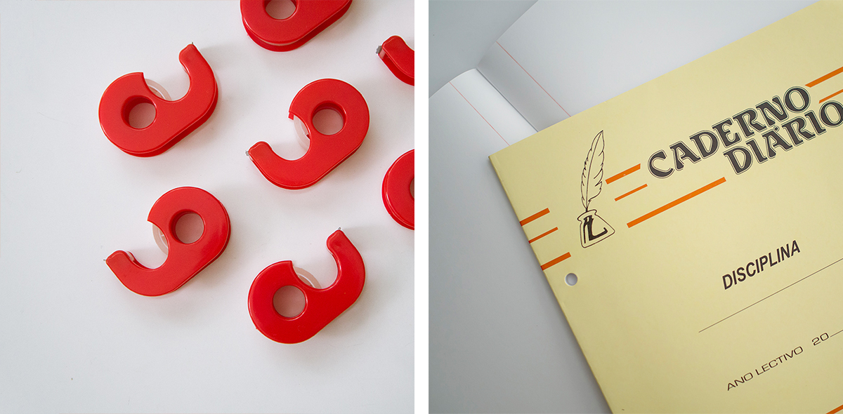 RAD AND HUNGRY: Red and yellow office supplies