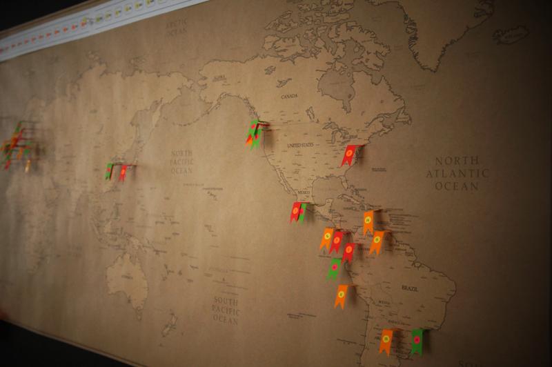 RAH World Tour Map