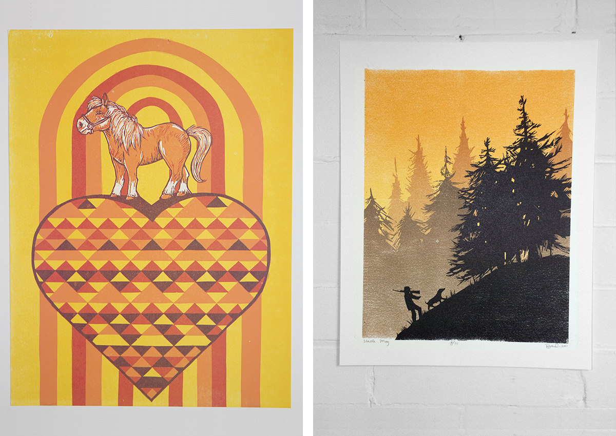 Print by Laura Baisden of Camp Nevernice