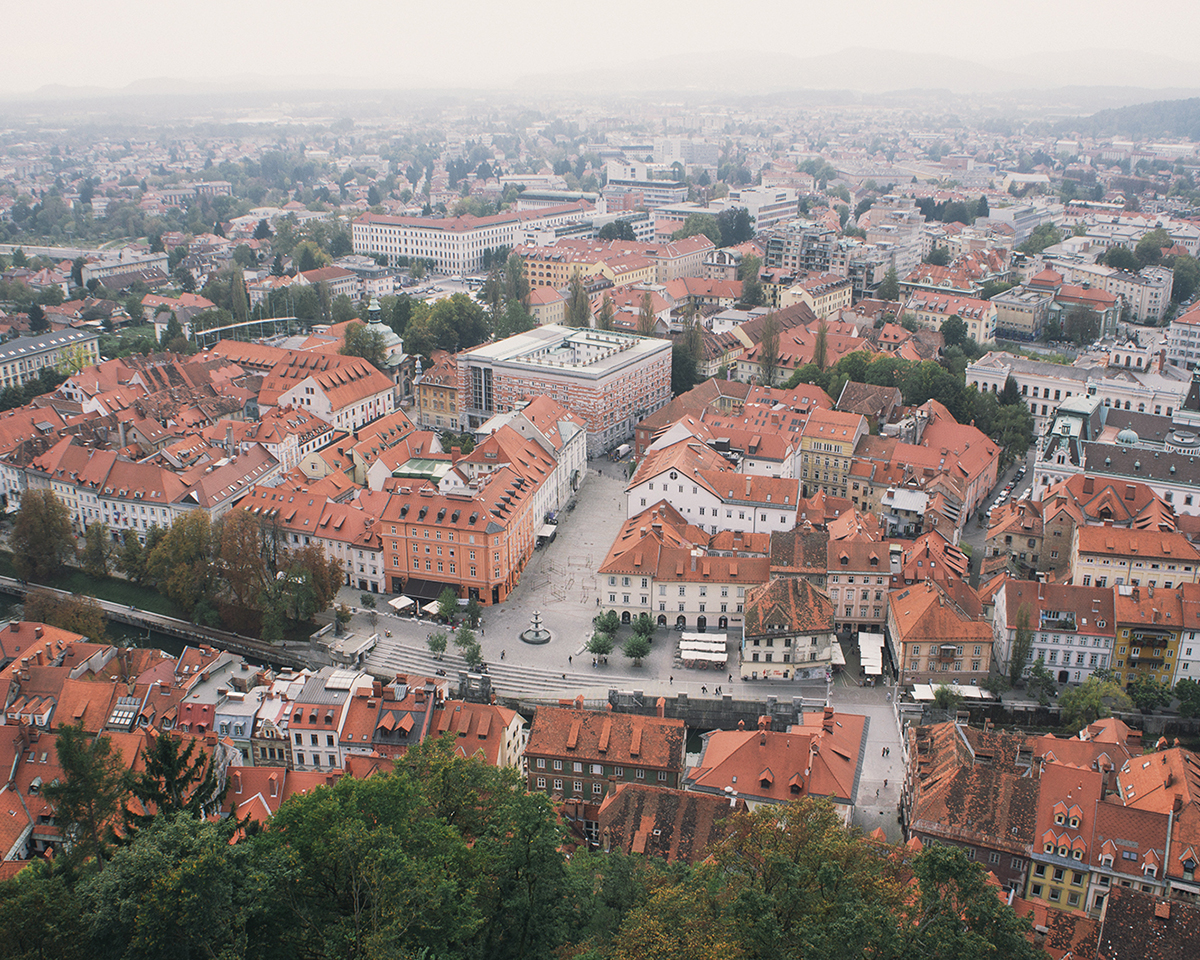 RAD AND HUNGRY View from Castle Ljubljana