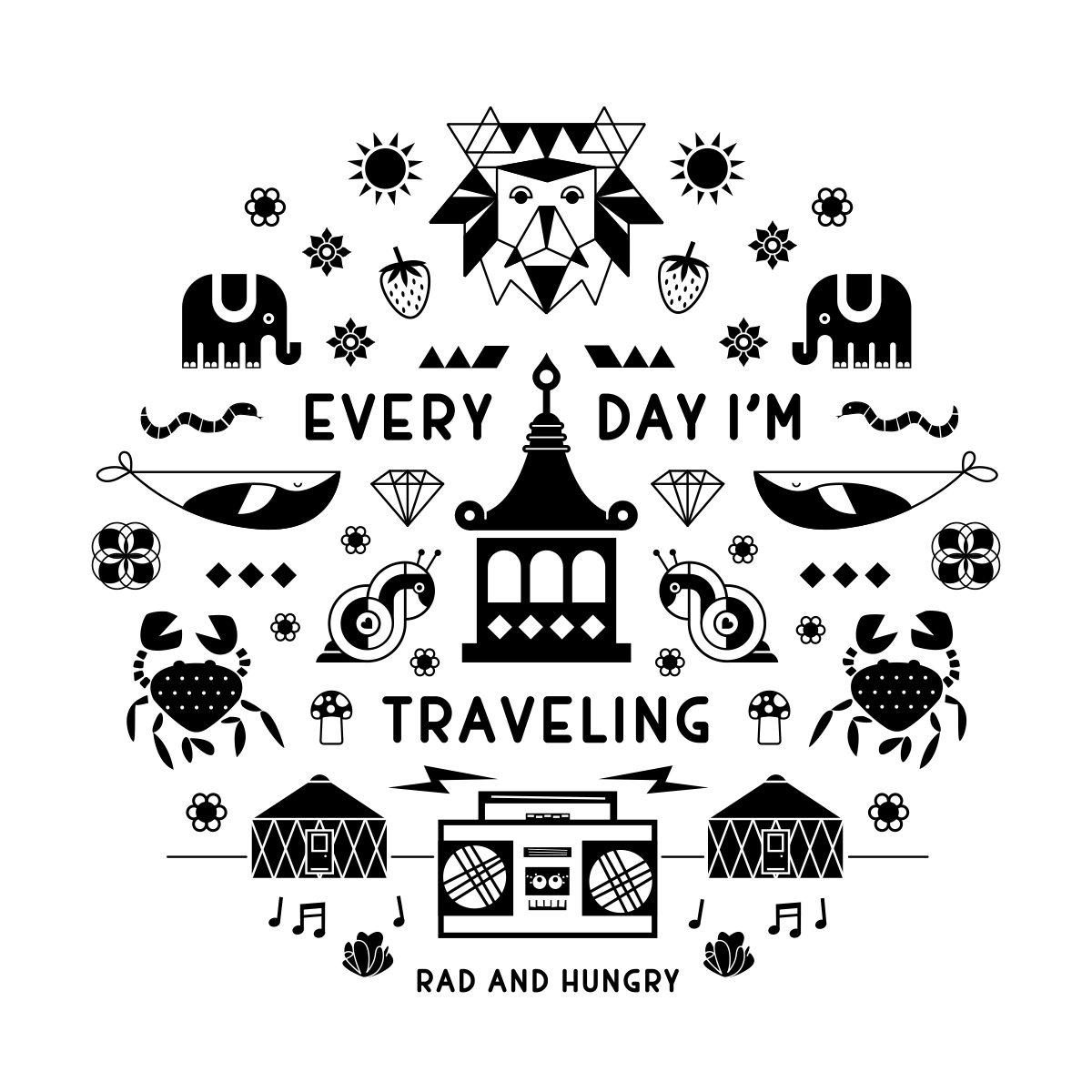 RAD AND HUNGRY: Every Day I'm Traveling