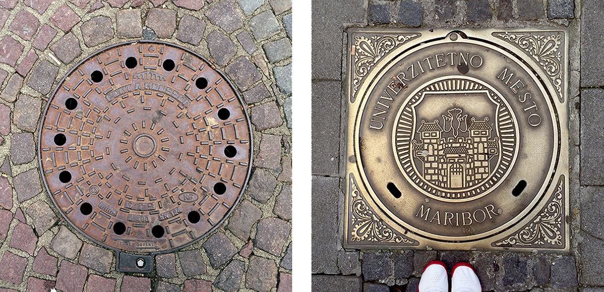 RAD AND HUNGRY Sewer Covers in Slovenia