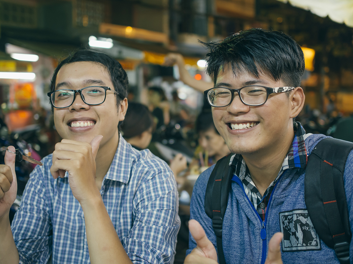 RAD AND HUNGRY: Trung and Justin
