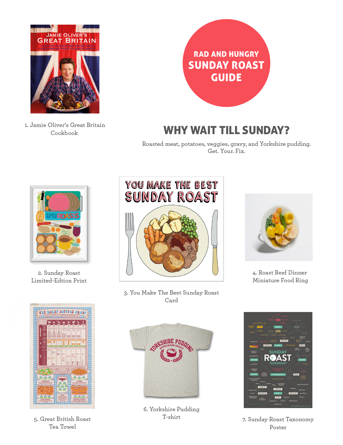 RAD AND HUNGRY Sunday Roast Guide