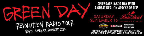 Green Day at The Rose Bowl September 16th