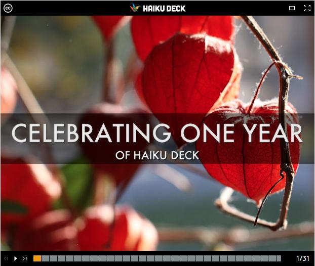 The Haiku Deck Movement: Celebrating One Year