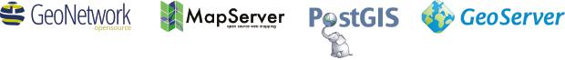 GeoNetwork, OSGeo, PostGIS, MapServer, GeoServer