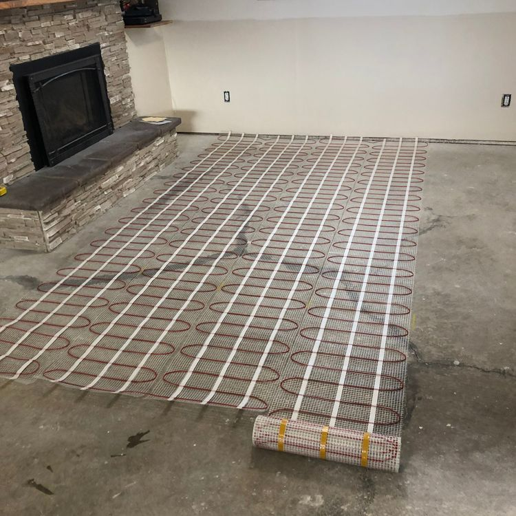 Heated Floor Mat Install