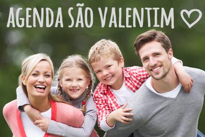 Agenda de São Valentim para toda a famílias