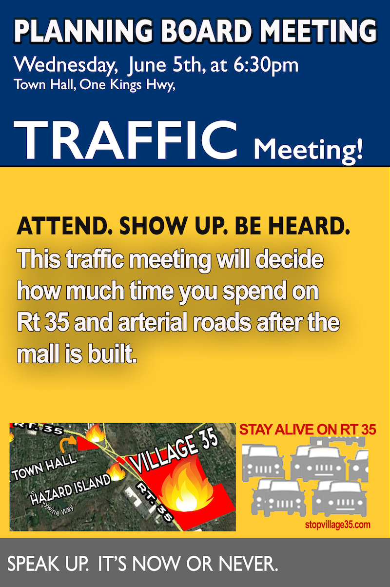 Traffic Meeting. June 5. Townhall