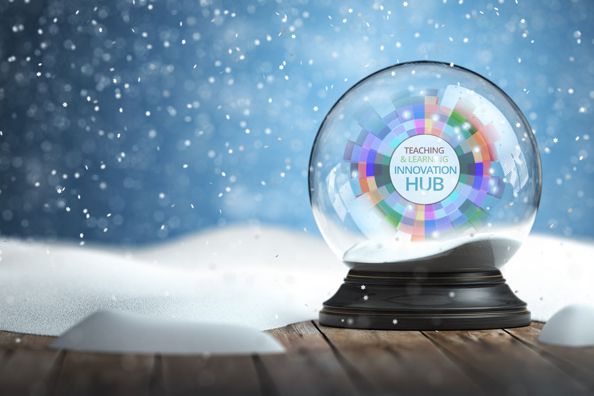 Snowglobe with Hub logo inside
