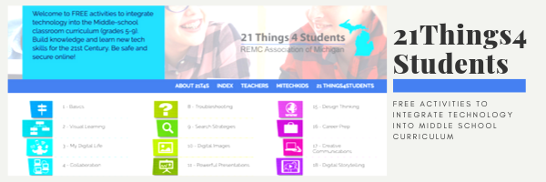 21 Things 4 Students is Project-Based Curriculum