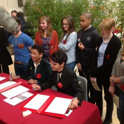 Signature de la Convention Egalité filles-garçons, femmes-hommes dans l'éducation