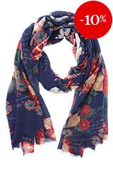 Sjaal Blauw met bloemen – Otra Cosa – 2048