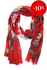Sjaal Rood met bloemen – Otra Cosa – 2049