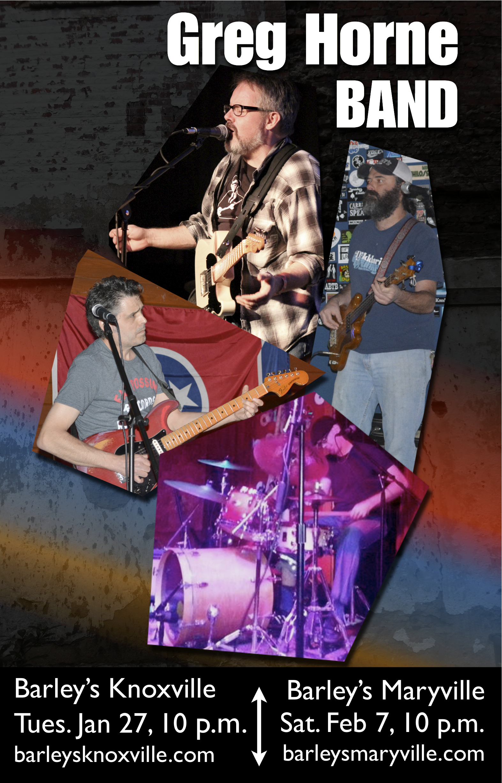 Greg Horne Band poster jan 2015