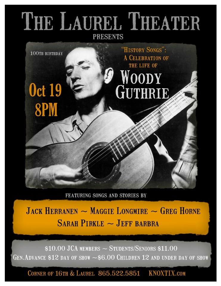 Woody Guthrie Show Poster