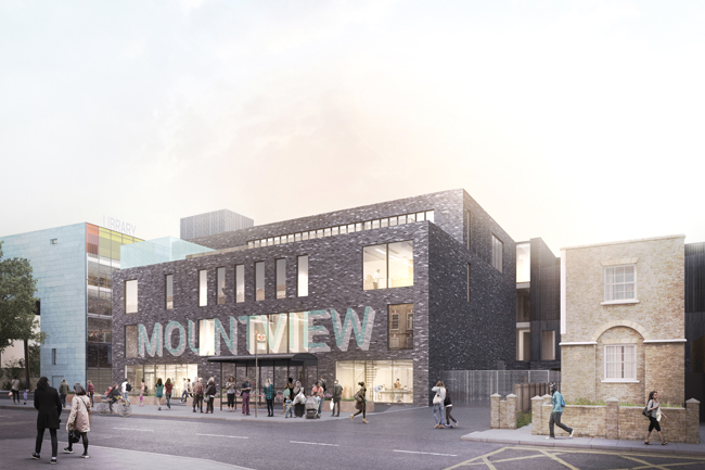 Artist impression of Mountview in Peckham: view from Peckham Hill Street