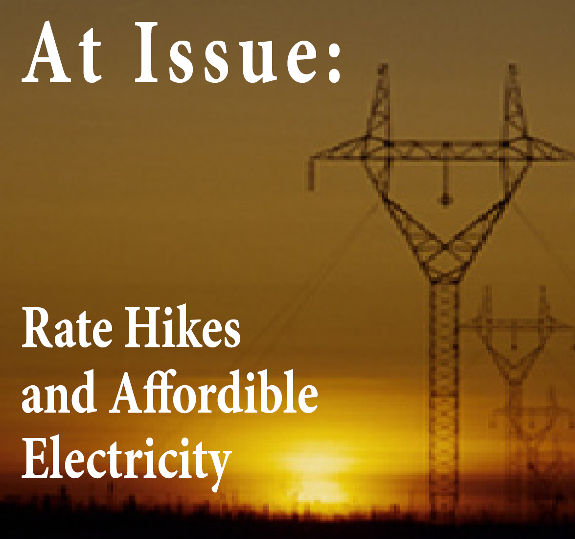 Double Digit Rate Hikes and Affordable Electricity