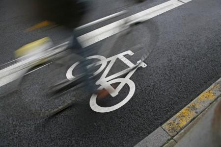 Bike on bike lane