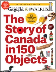 The Story of Canada in 150 Objects cover
