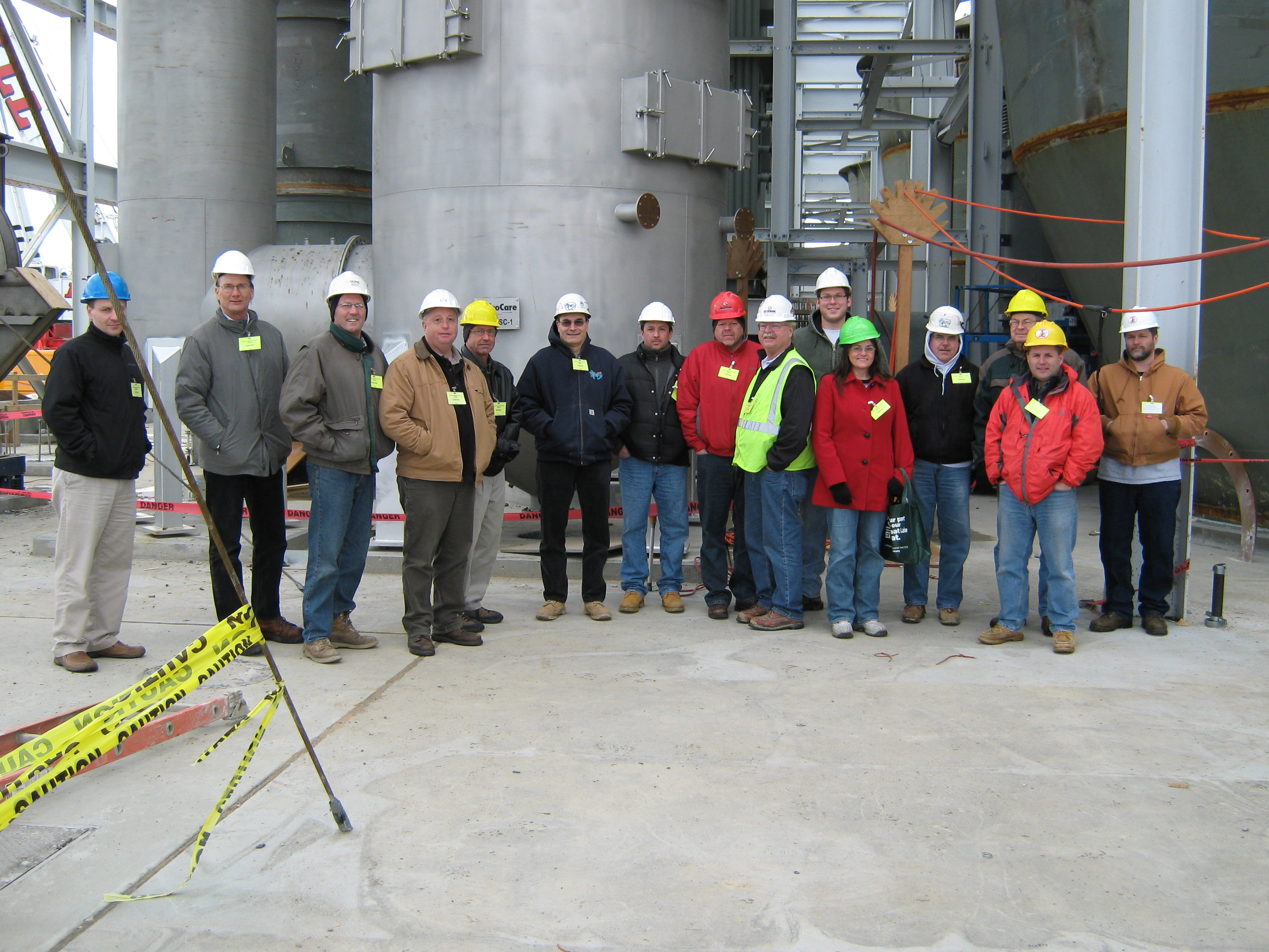 Image Caption: Members and guests visit the Northeast Ohio Regional Sewer District's Southerly Waste Water Treatment Plant in the Cleveland suburb of Cuyahoga Hts.