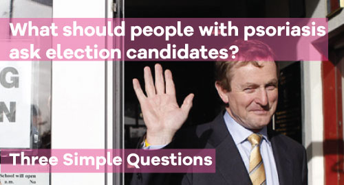 Enda Kenny - Psoriasis and the Election graphic