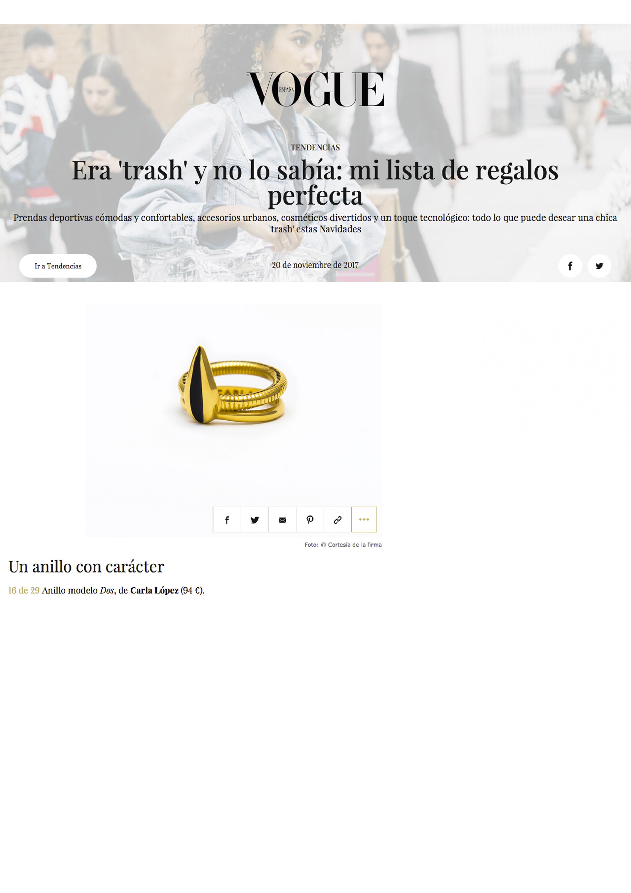 Vogue España - carlalopez
