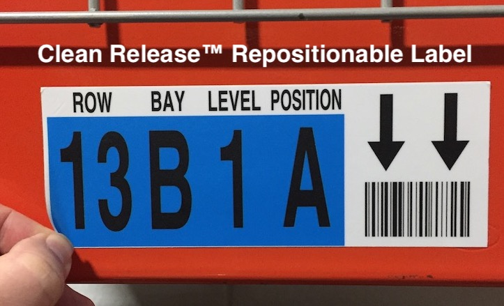Clean Release Repositionable Label