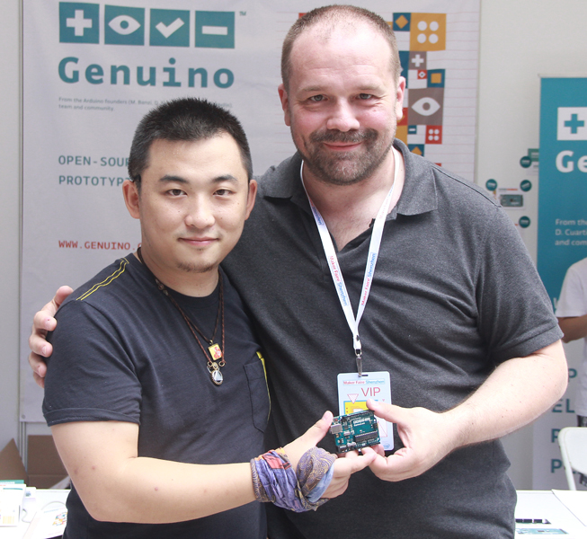 Massimo Banzi annuncia l'avvio della produzione e distribuzione in Cina dei prodotti a marchio Genuino 2