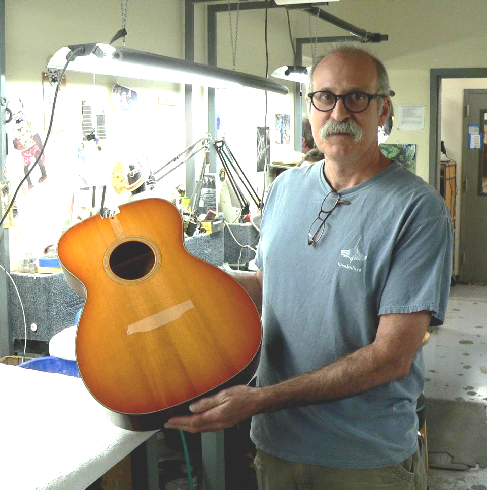 Bruce with the custom Collings OM1ATSB Traditional