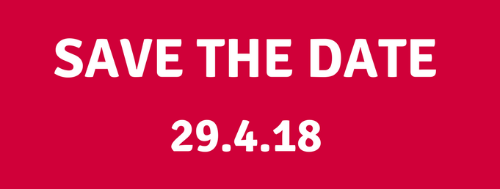 Save the date 29/4/18