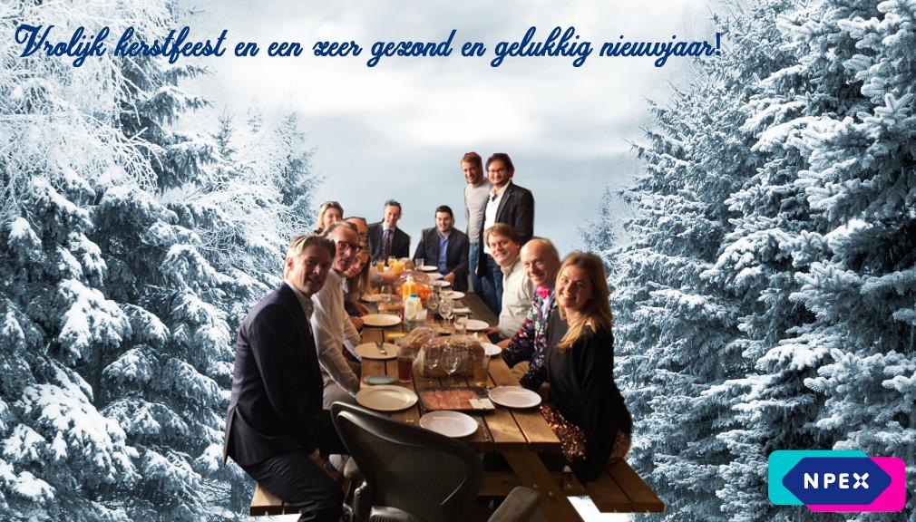 NPEX wenst u een vrolijk kerstfeest en een gelukkig nieuwjaar
