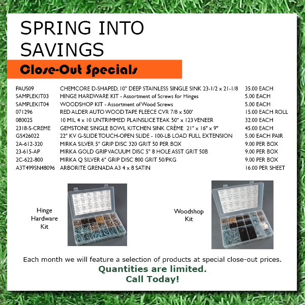 march closeout specials