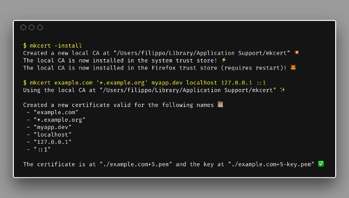 mkcert: valid HTTPS certificates for localhost