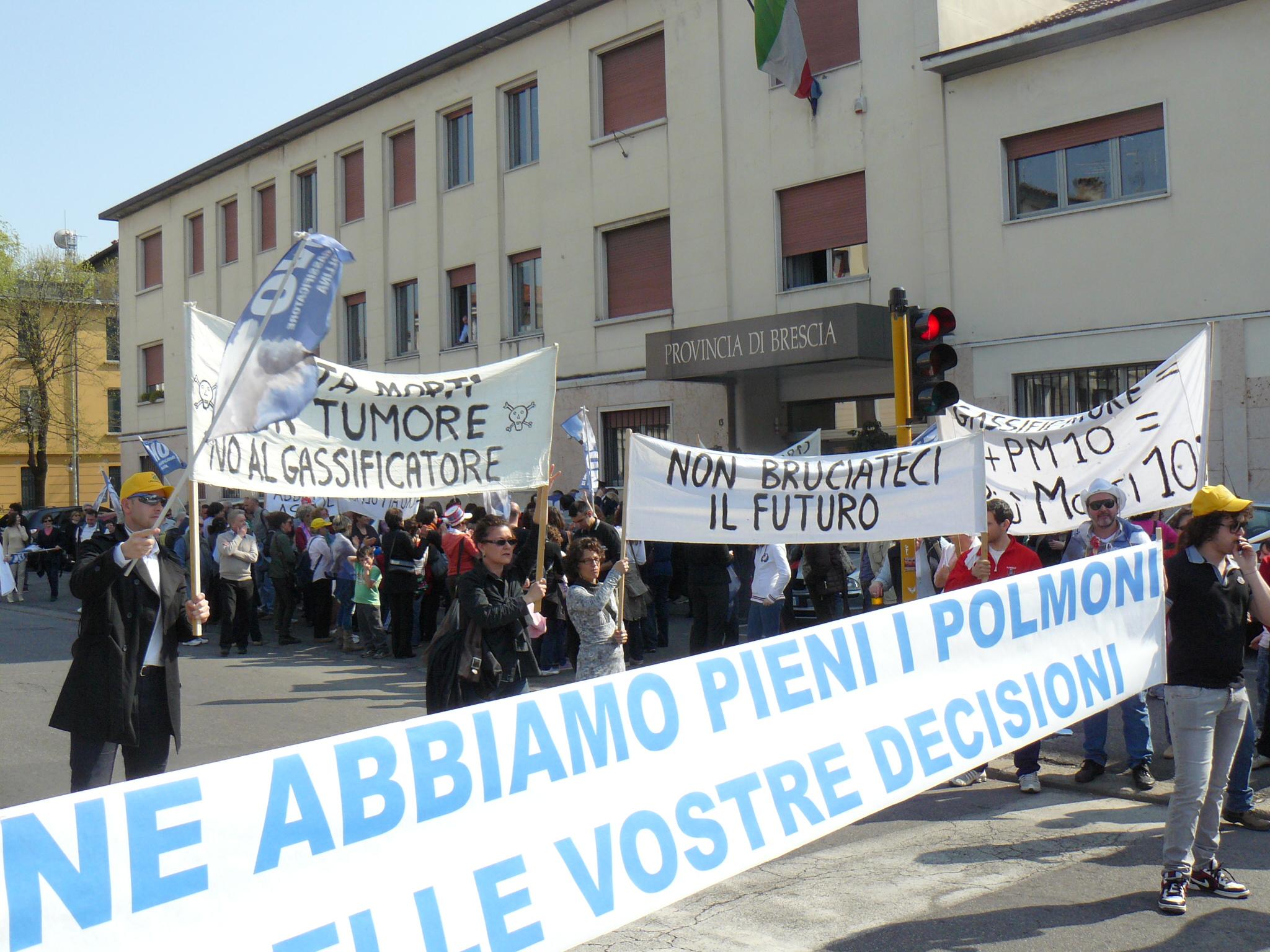 Immagine di archivio: Manifestazione in provincia contro il Gassificatore di Pollina di Bedizzole